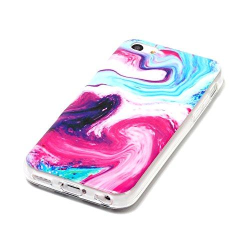 "MOONCASE iPhone 5c Housse, [Colorful Marble Pattern] Ultra Thin TPU Anti-dérapante Anti-choc Protection Etui Case pour iPhone 5c 4.0"" Colorful Colorful"