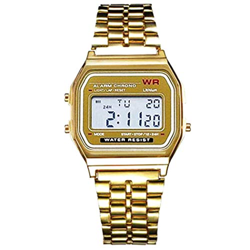 Ceanfly Unisex Armbanduhr Automatikuhr LED Digital elektronische Uhr quadratische Form Armbanduhr
