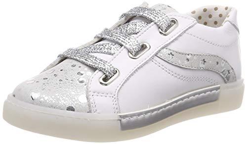 PRIMIGI Mädchen PSD 34290 Sneaker, Weiß (Bianco/Argento 3429022), 29 EU