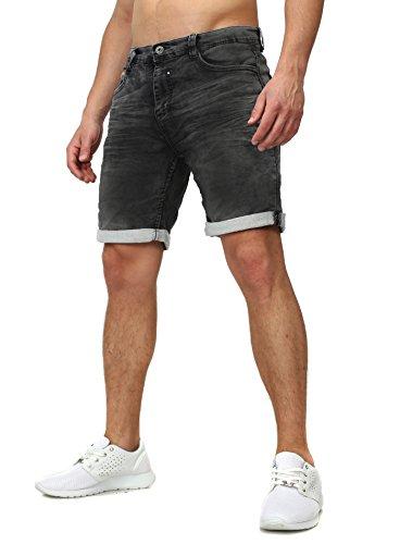 Sweat Jeans Denim Jogger Shorts Sommer Kurze Hose Sublevel 98-86 dunkelblau dunkelgrau W32
