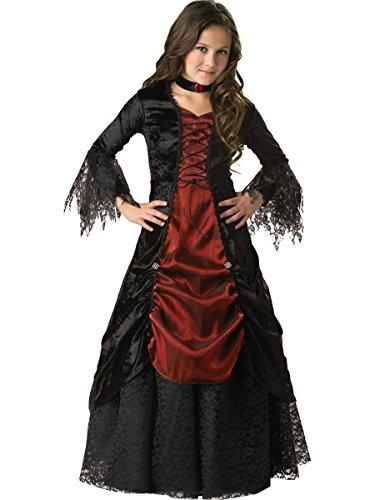 Gothic Vampir Vampira Vampiress Kostüm für Kinder - Gr. 10 (134cm-140cm) (Kinder Gothic-kostüme Für)