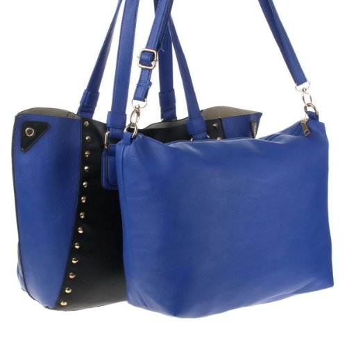 Young-Fashion, Borsa a tracolla donna (Nero/Blu)