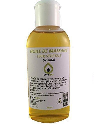 Huile de massage 100% végétale parfum ORIENTAL - 100ml- Offre découverte