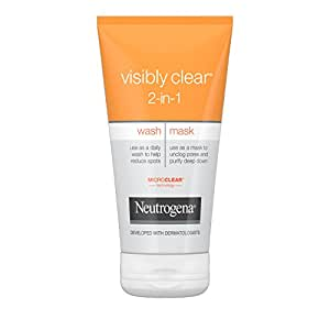 Neutrogena - Visibly Clear 2 en 1 Nettoyant & Masque - Tube 150 ml