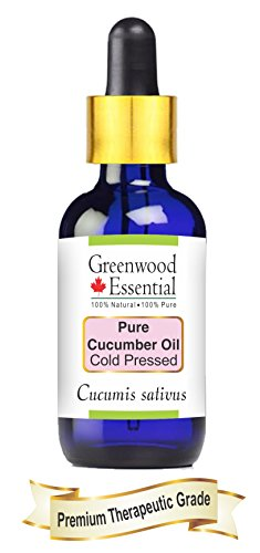Huile de concombre pure Greenwood Essential (Cucumis sativus) avec compte-gouttes en...