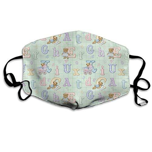 Preisvergleich Produktbild Teddy Tots Alphabet - Mint Green Anti Dust Mask Anti Pollution Washable Reusable Mouth Masks