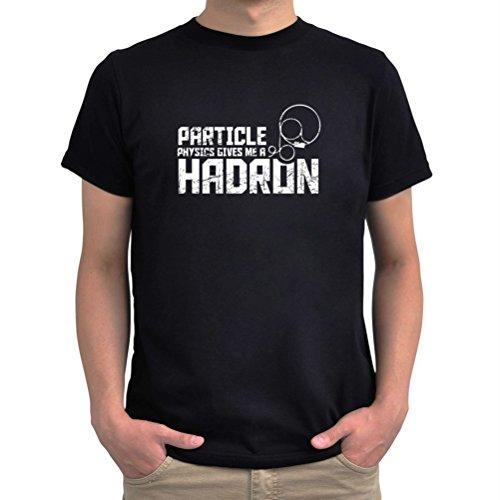 Maglietta Particle physics gives me a hadron Nero