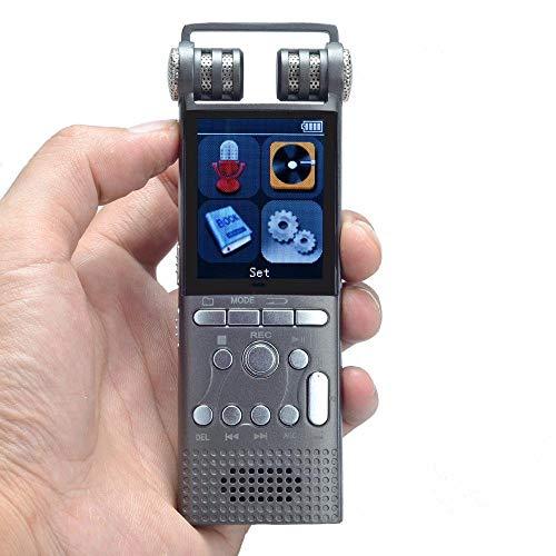 Recorder Tragbare Mini-Aufnahmegeräte, Professionelle Sprachaktivierte Digitale Audio-Sprachaufzeichnung 16 GB USB Spy Pen Non-Stop 100-Stunden-Aufnahme PCM 1536Kbps, TF-Karte Unterstützen