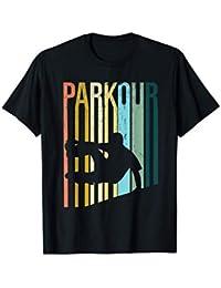 Vintage Distressed Style Parkour Silhouette Camiseta