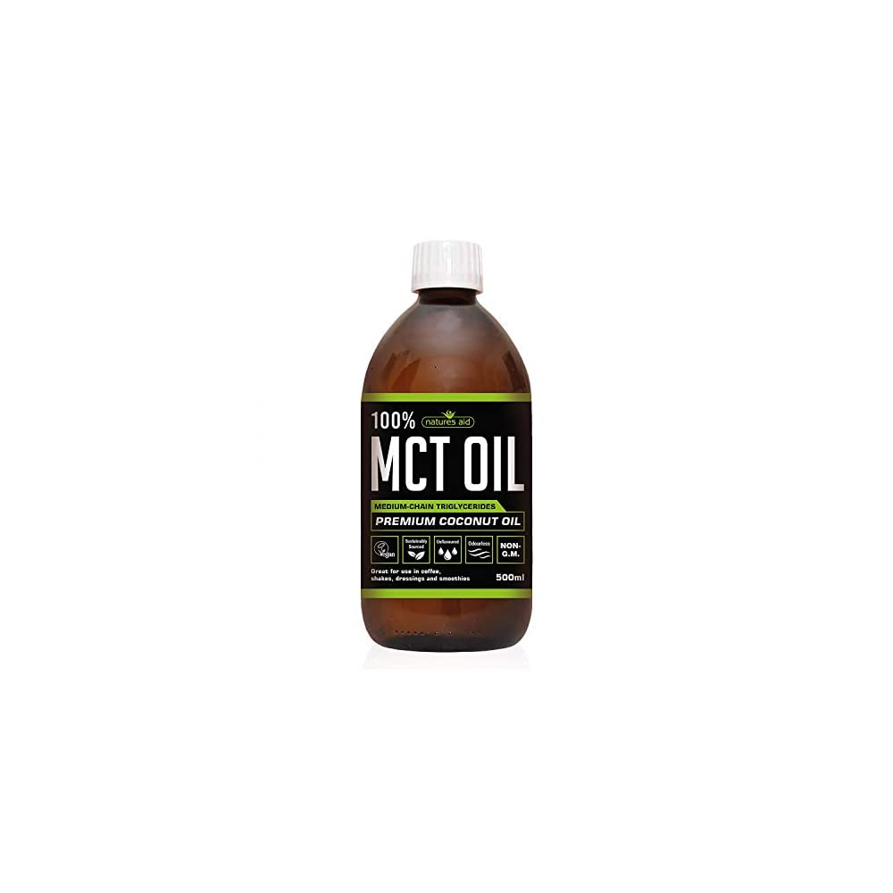 Natures Aid Natural Pure Mct Oil From Premium Coconut Oil 500ml