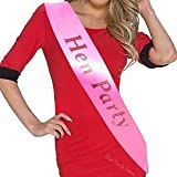 6 Light Pink With Hot Pink Writing Hen Party sashes Ideal for Your Hen Night and to Make the Party Even More Fun! Girls Night Out, Bride to Be, Maid Of Honor, Bridesmaids, Wedding Celebration, Special Occasion. (Hen Night Sashes)