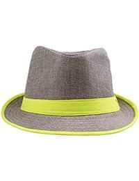 Señoras para Hombre Moda De Verano Sombrero para De Sol El Sombrero Jazz  Especial Estilo Tejido ff439afaf4f