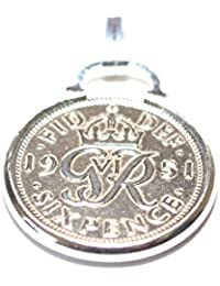 Cinch Pendant 1938 Lucky sixpence 80th Birthday plus a Sterling Silver 18in Chain
