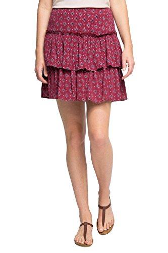 Esprit, Jupe Femme Multicolore (BORDEAUX RED 600)