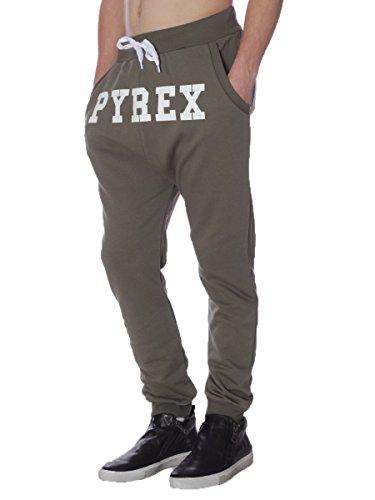 Pantalone Pyrex in Felpa Garzata 28314 Made in Italy MainApps Verde Militare
