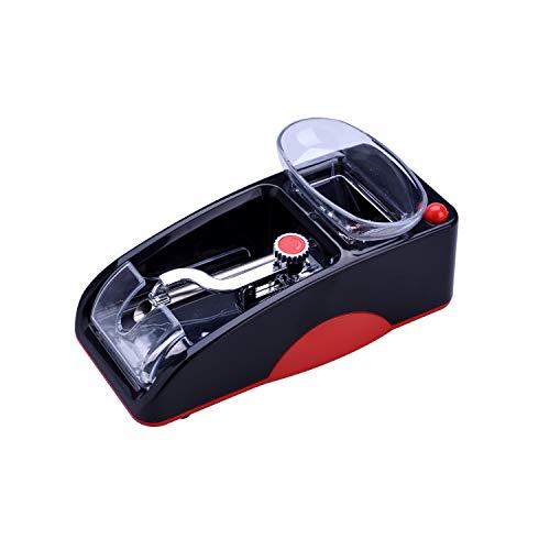 CHAMP - Tubeuse - Machine à Tuber Les Cigarettes électrique - Format Compact - Se Recharge avec Prise de Secteur - - Plastique - Rouge et Noir