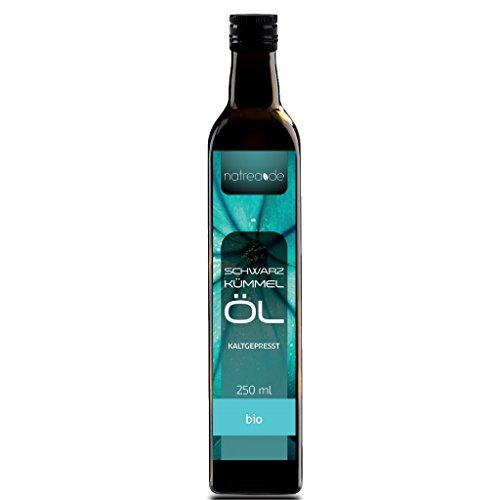 Natrea Schwarzkümmelöl   gefiltert ✔ kaltgepresst ✔ 100% reines BIO-Öl ✔ in 250 ml Lichtschutzflasche (1 x 0,25 l)