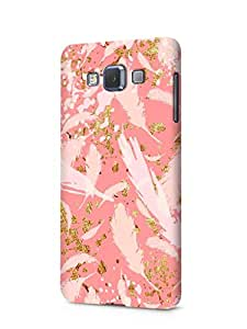Cover Affair Feathers Printed Designer Slim Light Weight Back Cover Case for Samsung Galaxy E7