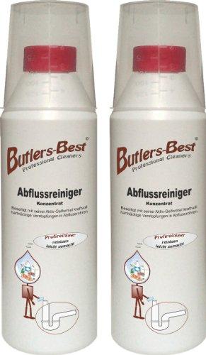 Haushalts-rohrreiniger (Abflussreiniger - Konzentrat mit Aktiv-Gelformel - biologisch abbaubar - 2 x 500 ml Flasche)
