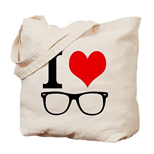 CafePress I Love Hipsters. Tragetasche, canvas, khaki, M