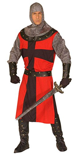 Karneval Klamotten Ritter-Kostüm Herren Kostüm Ritter Mittelalter-Kostüm Kreuzritter Kreuzfahrer Herrenkostüm Erwachsene Karneval Größe (Erwachsene Kreuzfahrer Ritter Kostüme)