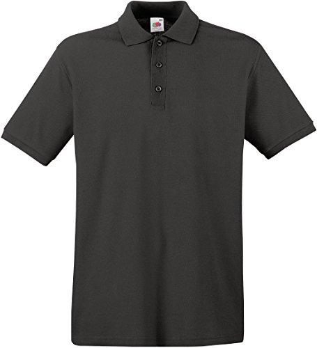 Fruit of the Loom Herren Poloshirt SS035M XL,Light Graphite (Pique Polo-shirt)