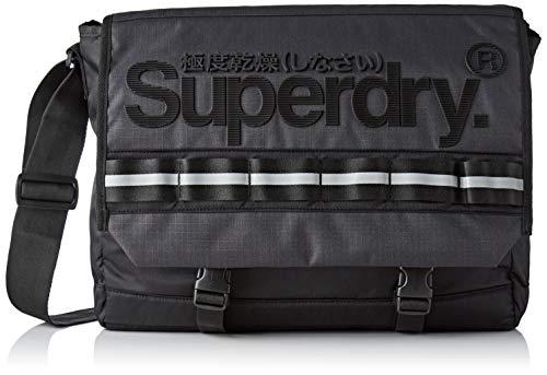 Superdry Line Merchant Messenger, Men's Messenger Bag, Black (Nero), 46x32x12 Cm (W X H L)