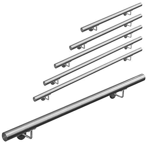 Edelstahl Handlauf Treppengeländer Geländer Wandhandlauf Wand Treppe 50-1000 cm V2Aox, Länge:100 cm