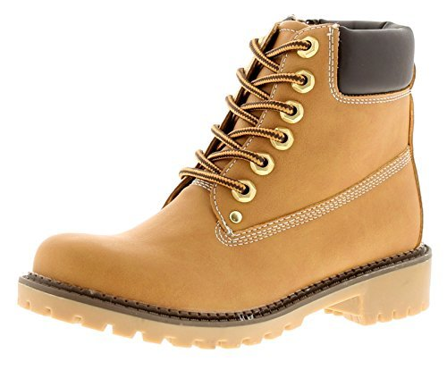 Wynsors New Older Boys/Childrens Nubuck Tan Lace Ups Fashion Ankle Boots - Nubuck Tan - UK Size 3