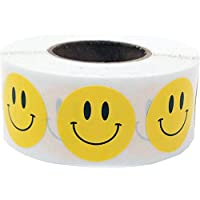 Smiley Face Circle Dot Stickers, 3/4 Inch Round, 500 Labels on a Roll