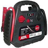 APA 16540 Powerpak 400 mit Kompressor 18 Bar, 400 A Starthilfe aufladbar mit 230 V Netzteil oder Zigarettenanzünder