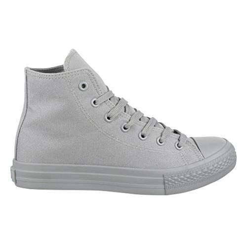 Elara Unisex Sneaker | Damen Herren | High Top | Chunkyrayan Grau one colour