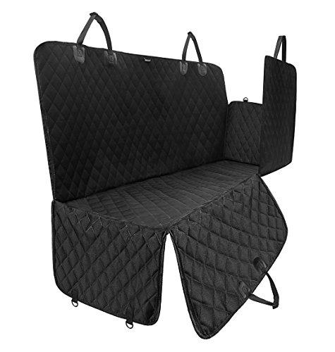ELETIST Grosser Sitzschutz II Auto Hundedecke Kofferraumschutz Rundumschutz Mit Sitzanker,Wasserdicht Undurchlässig Einfache Reinigung, 160*140(cm) Schwarz,Passend für alle Modelle