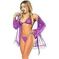 LadyMoon Conjunto Lencería Mujer Erotica Pijama Enteros Mujer Ropa Interior Mujer Sexy Conjuntos Body Encaje Mujer