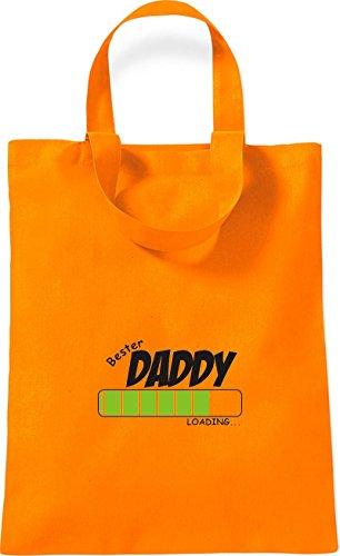 ShirtInStyle kleine Baumwolltasche BESTER DADDY Loading Farbe Rot orange