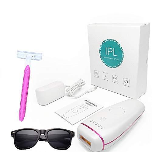 ZHENDUO Laser-Haarentfernung für Frauen und Männer Körper schmerzfreie dauerhafte Haarentfernung Wimpern Laserkopf mit IPL-Brille und Razor Beauty Machine Epilierer