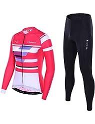 Beydodo Ropa Deportiva para Mujer Trajes de Ropa Deportiva Conjunto Rosa Al Aire Libre y Running