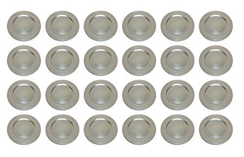 Platzteller Dekoteller Ø 33 cm silber Set