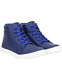 Vanni Obsession VO Synthetic Leather Boot Shoes For Men's And Boys Blue