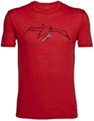 Icebreaker Albahanger T-Shirt de Randonnée Homme, Rocket, FR : L (Taille Fabricant : L)