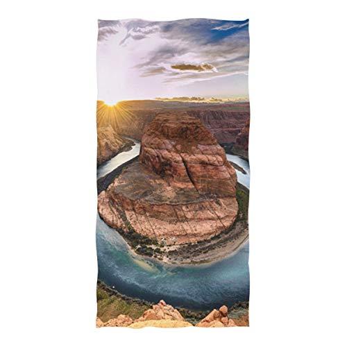 WOCNEMP Womens Beach Blanket erstaunliche Aussichten auf Grand Canyon Arizona Mikrofaser Handtuch für Reisen Schwimmen Camping Yoga Sport 37 x 74 Zoll The Beach Blanket -