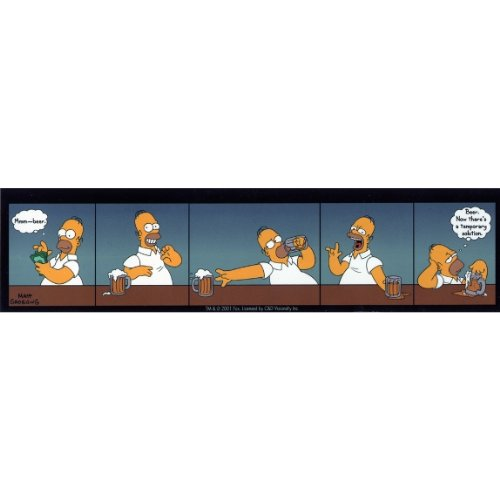 Auto Aufkleber Simpsons (Simpsons–Homers temporäre Lösung Aufkleber)