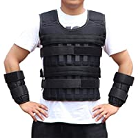 Wakauto 1 PCS Weighted Vest Adjustable Weight-Bearing Weighted Sleeveless Garment Workout Equipment for Fitness