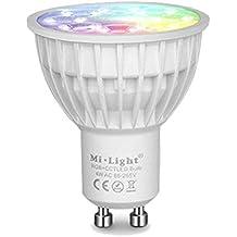 KingLed - Mi-Light Faretto LED WiFi RGB+CCT 4W GU10 - Lampadina Multicolore RGB e con Bianco con Gradi Kelvin Variabili Serie MiLight cod. 2261