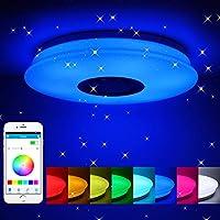 Winbang Plafoniera a LED, Smart Music Plafoniere a LED RGB Dimmerabile Lampada da soffitto con telecomando Bluetooth 36W / 60W (60W)