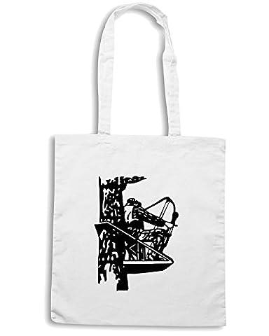 Cotton Island - Sac shopping FUN0850 bow hunter in tree sticker 78919, Taille Capacita 10 litri