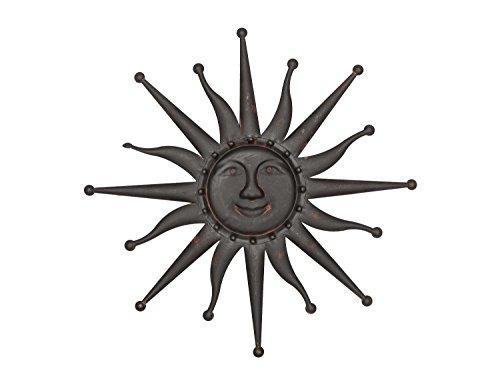 Sonne Wanddekoration 60cm Metall Deko Garten Terrasse braun iron garden sun