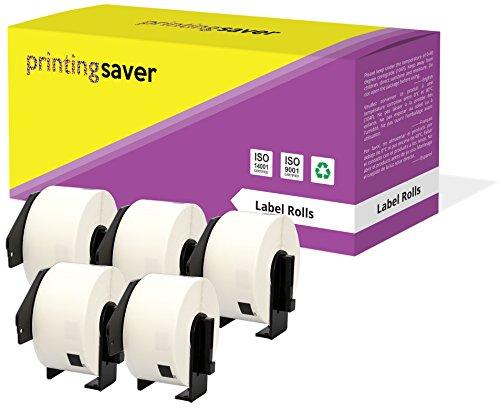5 Rollen DK11208 DK-11208 38mm x 90mm Adress-Etiketten kompatibel für Brother P-Touch QL-500 QL-550 QL-570 QL-700 QL-800 QL-810W QL-820NWB QL-1050 QL-1060N QL-1100 QL-1110NWB (400 Etiketten pro Rolle) - Ql 500 P-touch Brother