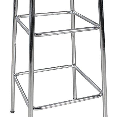 FineBuy KING - American Diner Bartisch 60 x 60 x 100 cm quadratisch aus MDF / Aluminium   Retro Stehtisch USA in Weiß / Silber   Robuster Bistrotisch im Stil der 50er Jahre   Party Bar Möbel Tisch mit Untergestell aus verchromtem Alu - 7