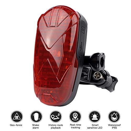 GPS Rastreador de Bicicleta, LED Mini Localizador GPS Anti-Robo IP65 Impermeable Tracker...